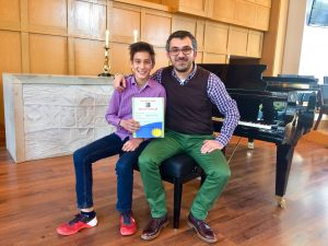 Student George Ghiugan & Piano Teacher Teo Milea