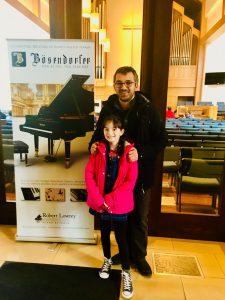 Student Amalia Enache & Piano Teacher Teo Milea